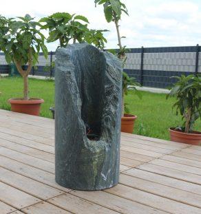 Feuersaeule_1 Grünschiefer hoehe 60 cm