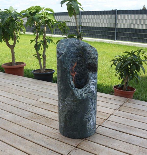Feuersaeule_1 Grünschiefer hoehe 70 cm