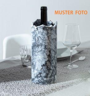 Weinkuehler schwarz weiß Marmor Muster Foto